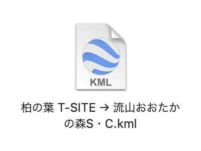TX沿線ポタリング:GoogleマイマップとCyclemeterで自転車ナビ:KMLファイル