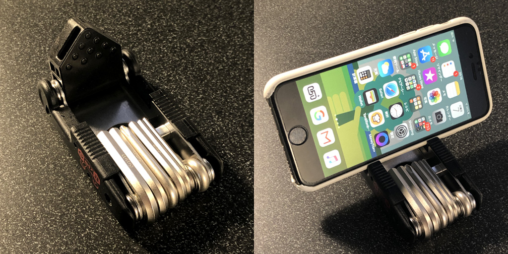 ミノウラ HPS-9:iPhoneを乗せてみました