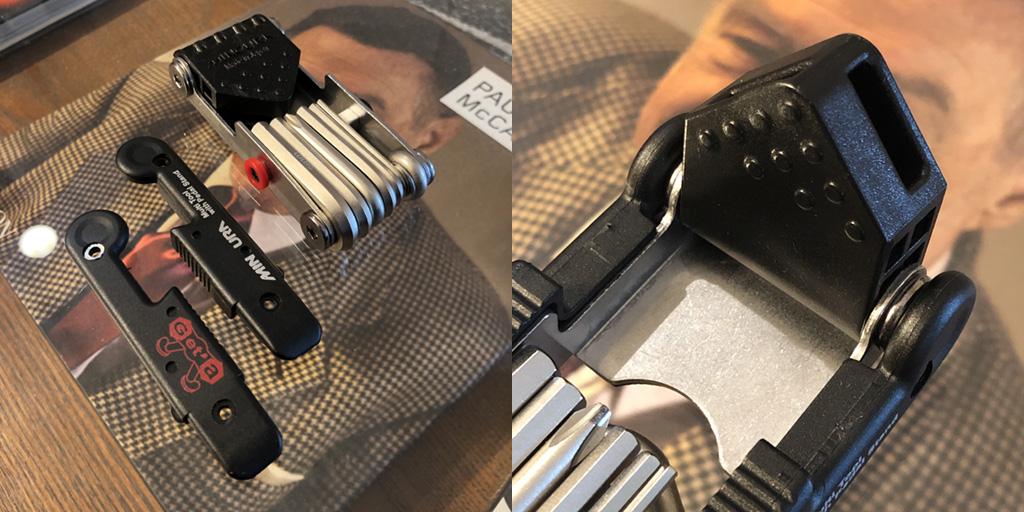 ミノウラ HPS-9:タイヤレバーと取付台座