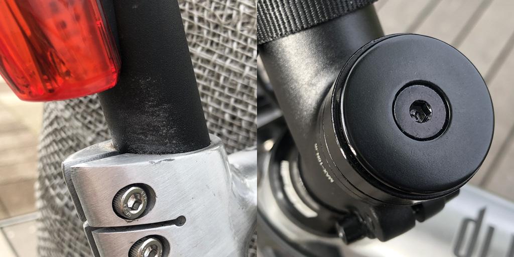 tern RIP 2020: 黒パーツにも小さな塗装ハゲがある