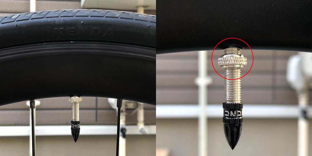 tern RIP: タイヤ側面のロゴとバルブの位置を合わせる