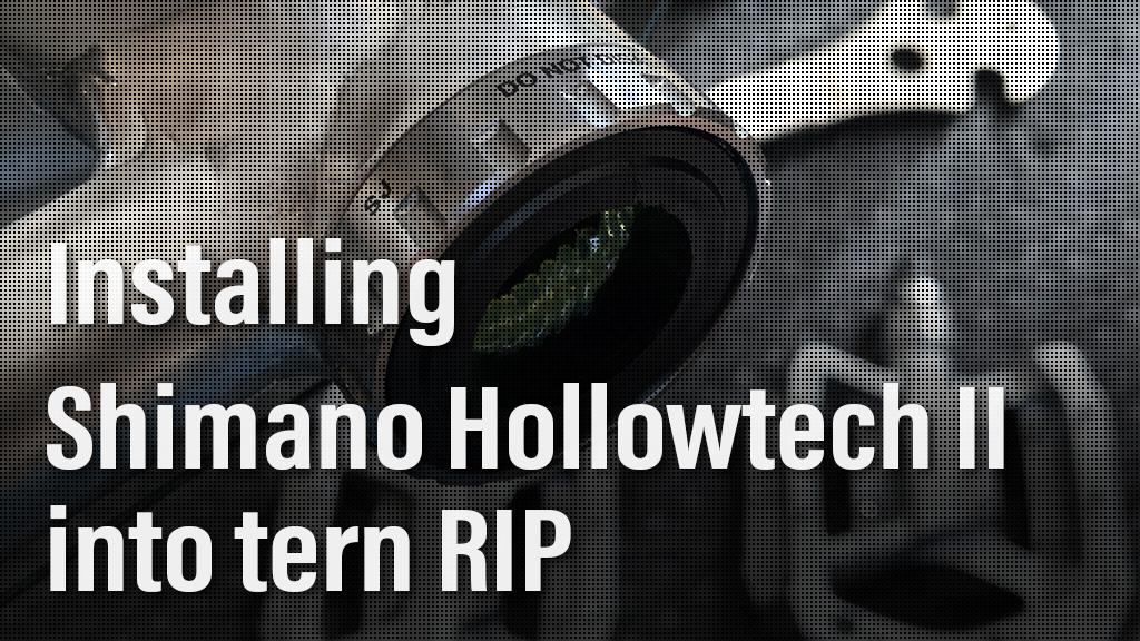 tern RIP クランクの交換① BBをホローテックIIに換装する