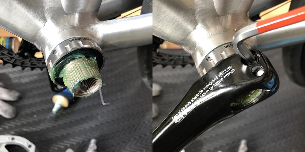 シマノ ALFINE FC-S501:左クランクの取り付け
