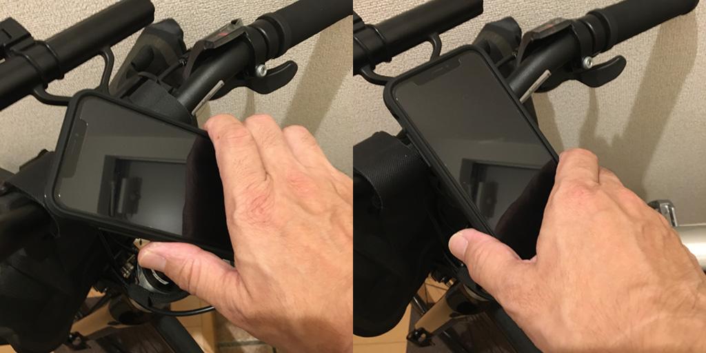 tern RIP: Spigen GEARLOCK Bike Mount Case for iPhone X/XS 着脱の仕方