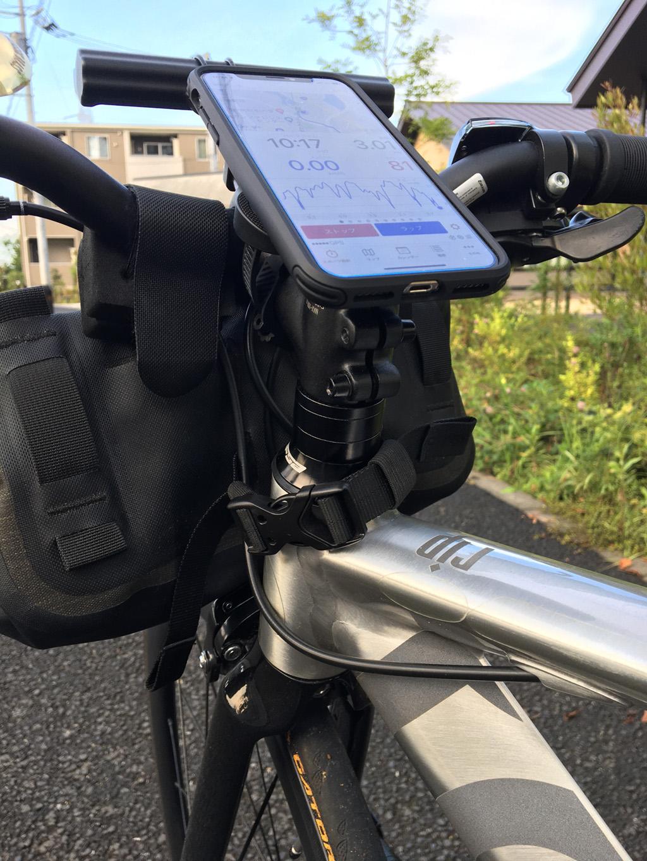 tern RIP: Spigen GEARLOCK Bike Mount Case for iPhone X/XS ステムにマウント